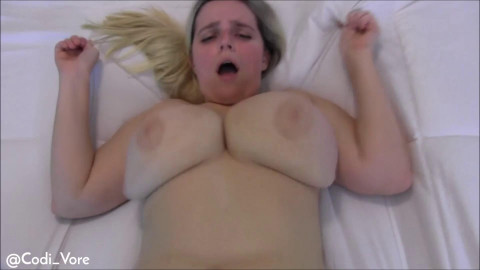 Big Tits Bounce on Huge Cock Creampie