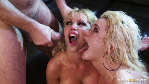 Two Sexy Blondes Crave Some Massive Cock