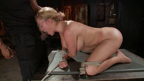 Hard restraint bondage, suspension and castigation for very hawt golden-haired part 1