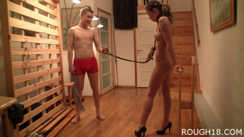 The Rough 18 couple start out with some fun vanilla bondage