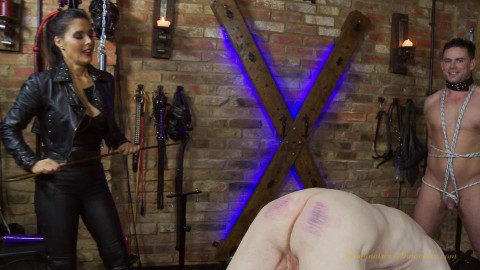 Demonstration of whipping in the basement