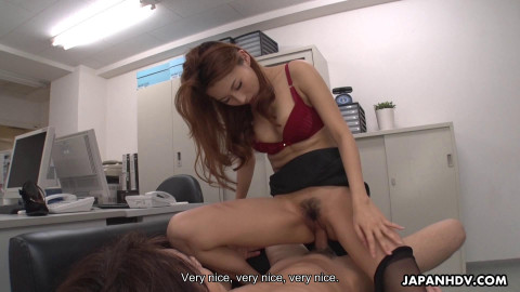 Mai Takizawa - Finishes blowing the boss and now desires to fuck (2021)