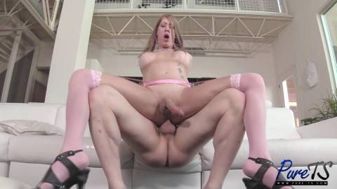 Rude woman with a dick