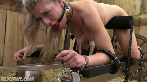 Super restraint bondage, pain and domination for exposed whore HD 1080p