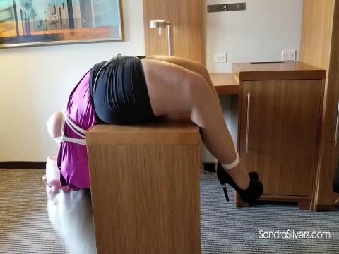 Upside-down Backbreaker Hogtie and Brutally Bound Boobs for MOTHER ID LIKE TO FUCK Secretary