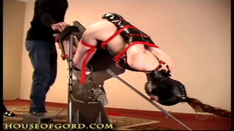 Tight bondage, predicament and torture for hot slut