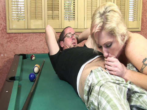 Nerd fucks and cums in busty MILF
