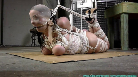 JJ Plush hogtied with a Lot of Rope - Part 3