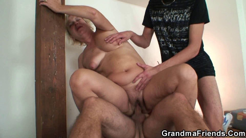 Granny gets wasted and creamed