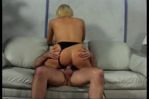 Blonde with huge boobs plays with raisins and fuck
