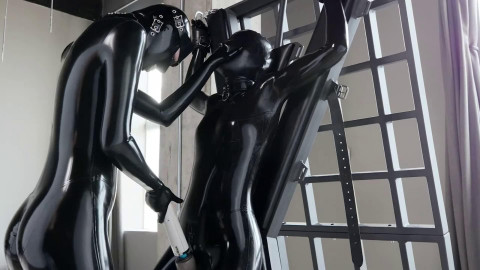 Bondage, domination and pain for hot cuties in latex  HD 1080p