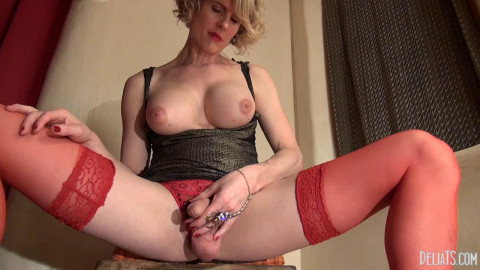 Delia DeLions Scorpion ring And red stockings (2014)