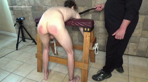 Back for some other spanking, this time 21 year old Rick is fastened