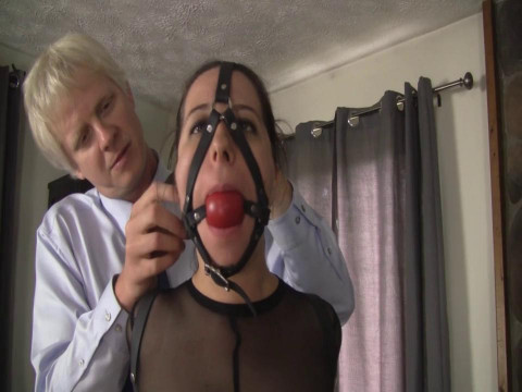 Super bonage, torment and hogtie for hot slut