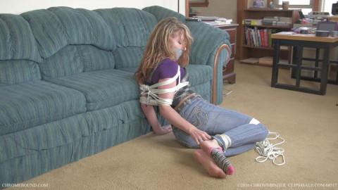 Faye Fox being bound up