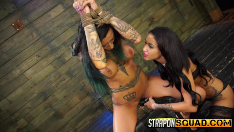 Alby Rydes Loves Lesbian Domination & Rough Sex with Esmi Lee