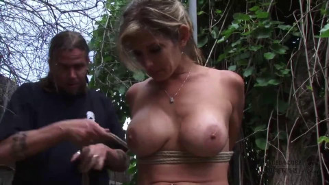 Taut tying, strappado and spanking for hot exposed model FullHD 1080p