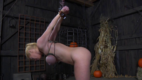 SexuallyBroken - Oct 10, 2014 - Big breasted blonde Darling trained for brutal deepthroat