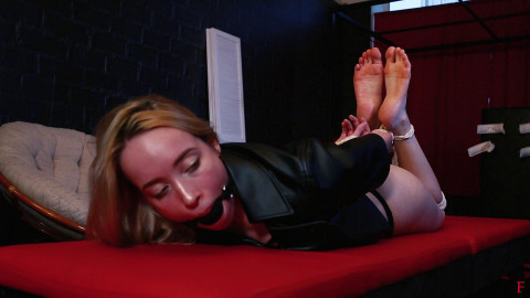 HD Dominance and submission Sex Movie scenes Alla is willing for serious tickling in wrist and ankle bondage tying
