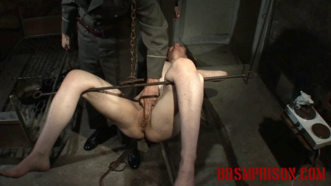 BDSMPrison - Nadjas BDSM Interrogation Involves a Rusty Hook & her Pussy