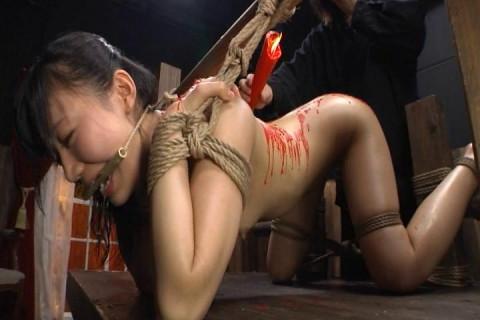 Rope Bondage Tortures For Busty Asian Slut