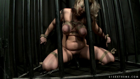 Fetish PAIN PLAY Action For Busty Blond Slave