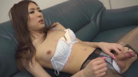 Transsexual Beauty Woman Doctor Sex Therapy Ayano Aya Black Pantyhose (2014)