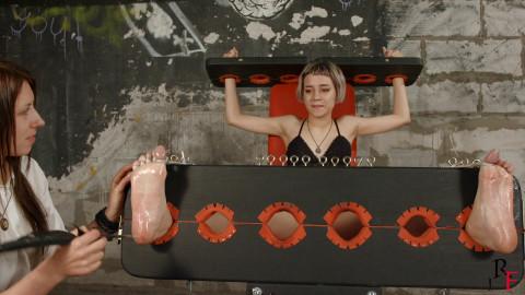 Bdsm Most Popular Antonia  First time feet tickling in stocks