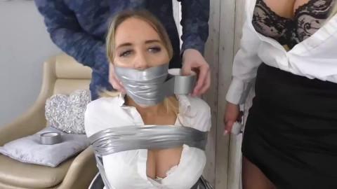 Tight tying and domination for 2 lewd slavegirls