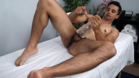 College Hunk Ezra Finn sticks his wang in a fleshjack - 720p