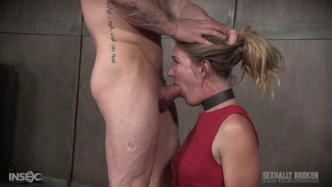 The warm up, tied down in intense metal and face drilled into slave bliss