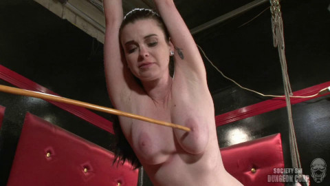 Hard tying, spanking and torment for sexually excited dark brown part 2