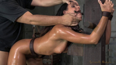Stunning  India Summer belted down to a post and bred, 10 inch BBC and creampies!