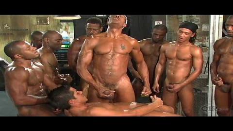 Bukkake group sex fantasy