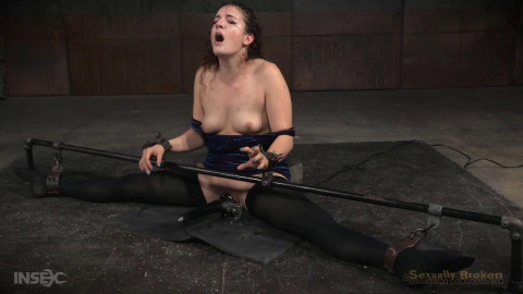 Flexible restraint bondage whore put throughout her paces