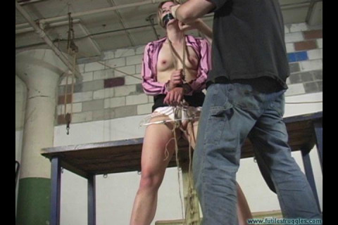 Eden Legs Spread Spanked and Crotchroped 2 part