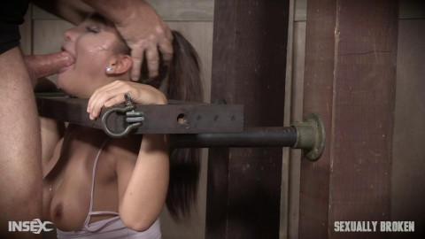 Gabriella Paltrova is back and suffering under the bondage and cock!