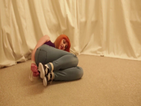 Amber in Jeans and Rope