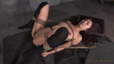 Petite Asian fucktoy Marica Hase used hard in tight bondage, multiple orgasms! (2014)