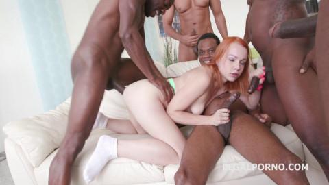 5on1 Rebecca interracial orgy