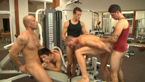 Perfect Football Orgy At Gym