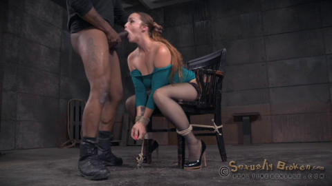 Big breasted Bella Rossi bound brutal shackled rough sex deepthroat while vibrated! (2015)