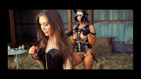 Bondage, spanking and domination for bare golden-haired