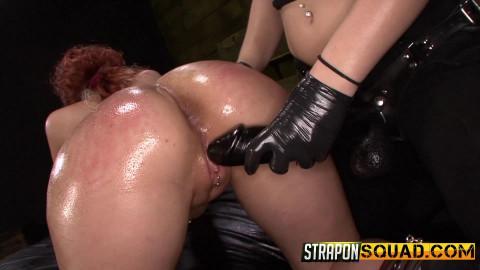 StraponSquad - Apr 15, 2016 - Pain Sub Slut Alessa Snow Endures Lesbian Domination