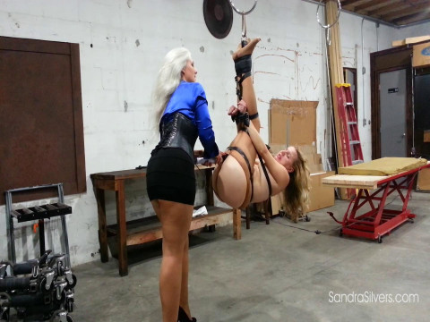 Suspended MOTHER ID LIKE TO FUCK with Ass Exposed Gets Bondage Orgasms