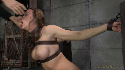 Chanel Preston sexually disgraced, tag teamed by cock and brutal deep throat