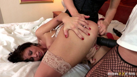 Her Sweet Holes Stretched By Two Kinky Ladies