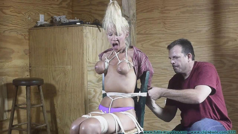 Amanda Foxx Manhandled and Chairtied - Part 2