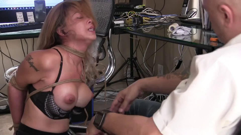 Tight restraint bondage, torment and hog tie for very marvelous bitch Full HD 1080p