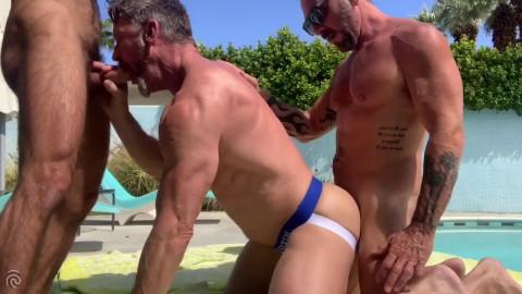 RFC - Dad Receives Pounded Poolside Bareback